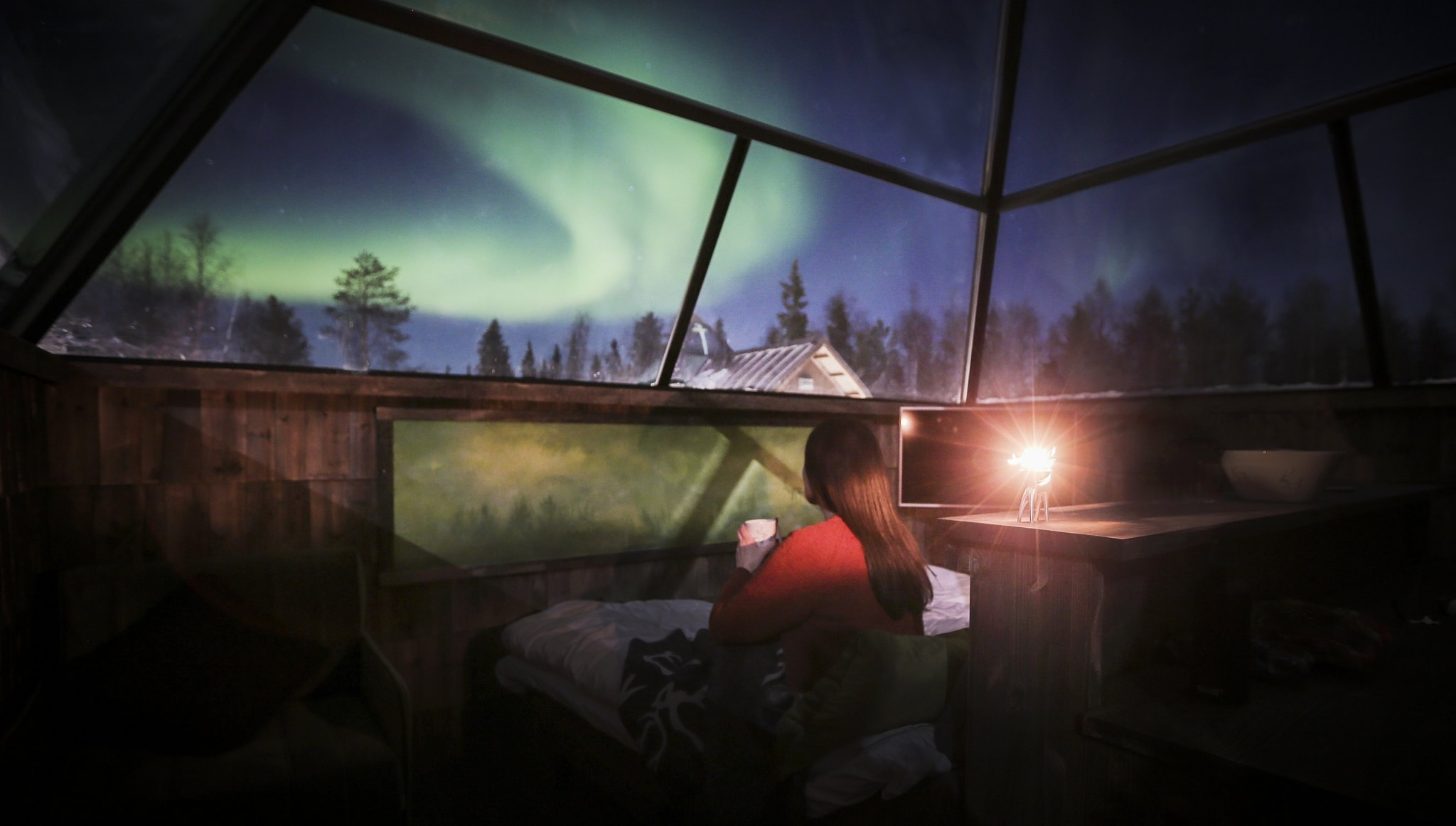Aurora Borealis, Glaspyramiden
