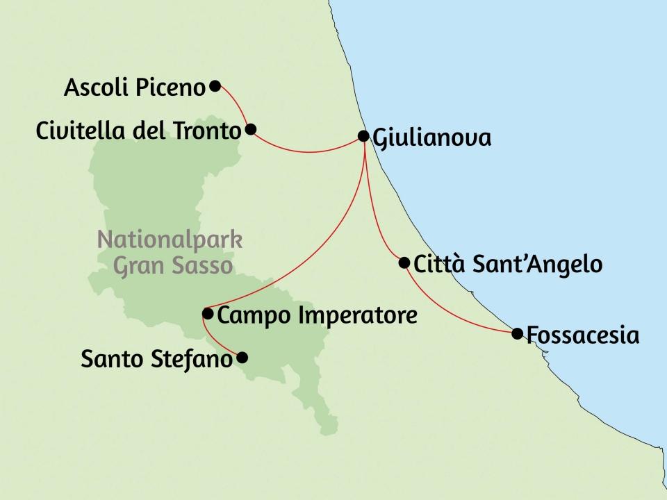 Italienische Adria, Karte