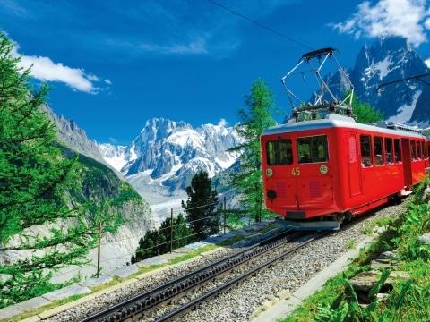 Schweiz, Zahnradbahn Mont Blanc
