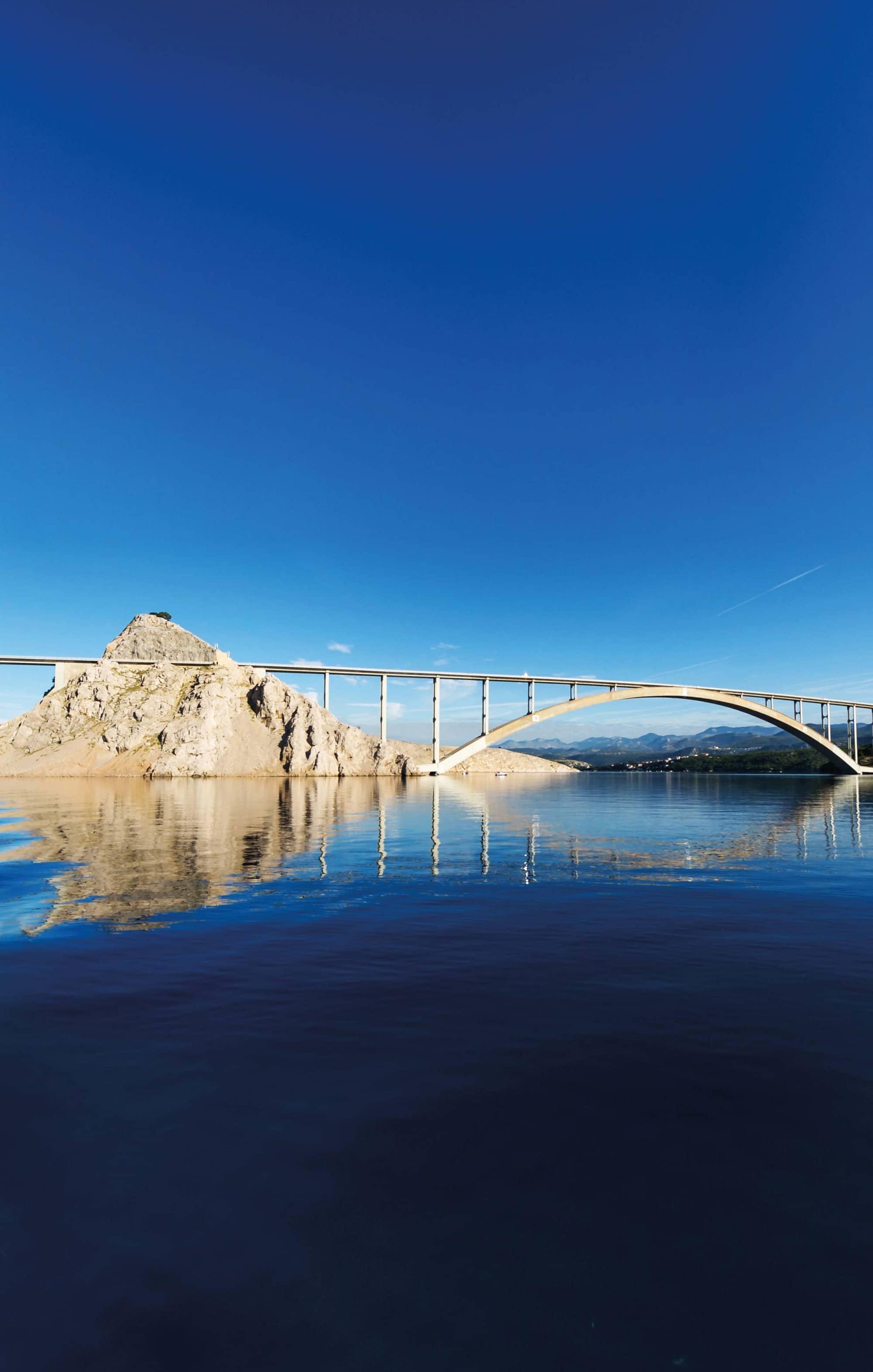 Kroatien, Brücke Krk
