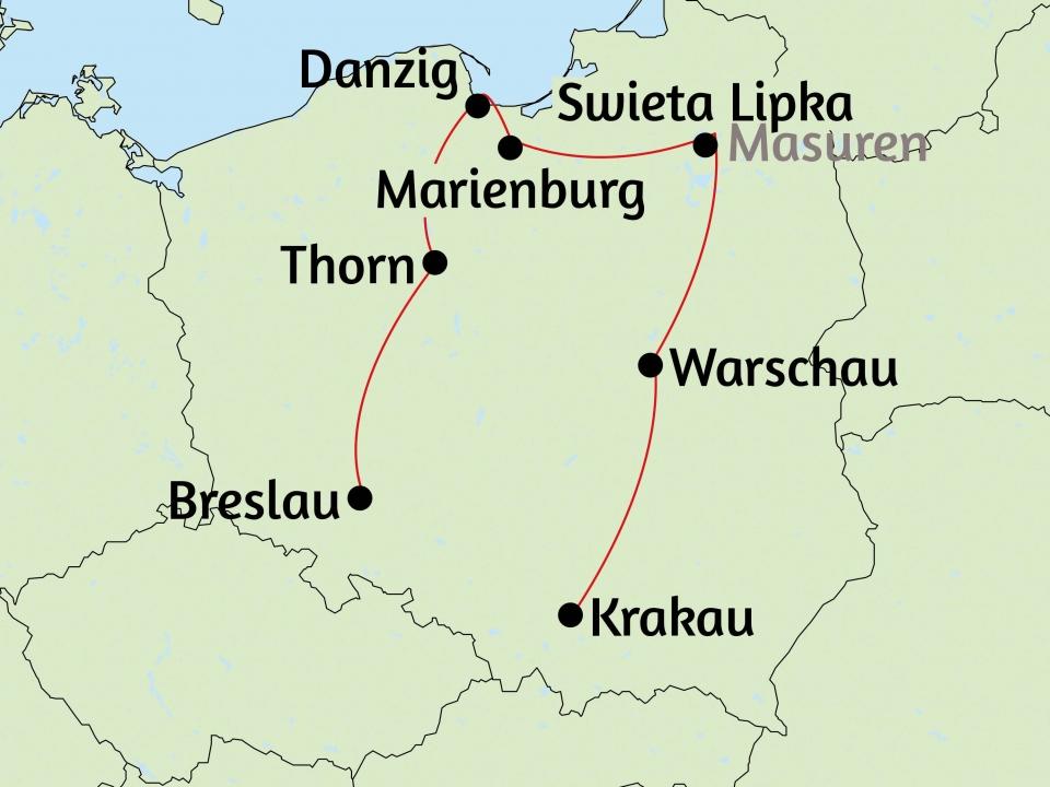 Polen, Karte