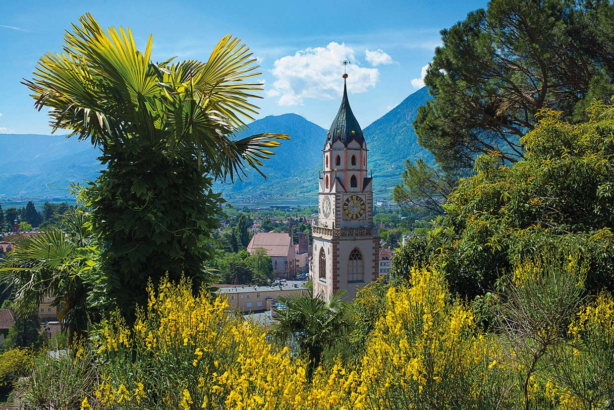 Südtirol, Blick auf Meran
