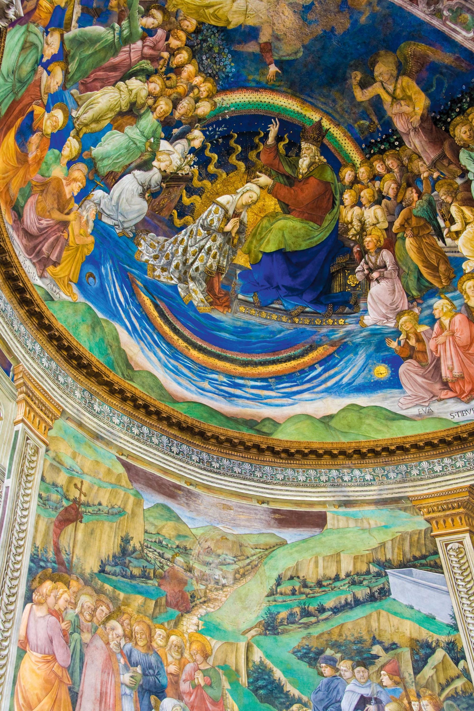 Fresken im Dom von Spoleto