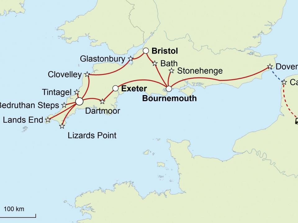 Cornwall, Karte
