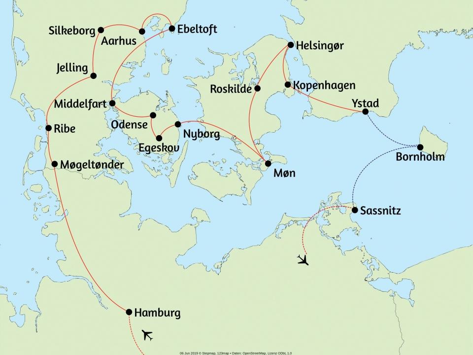 Dänemark, Karte