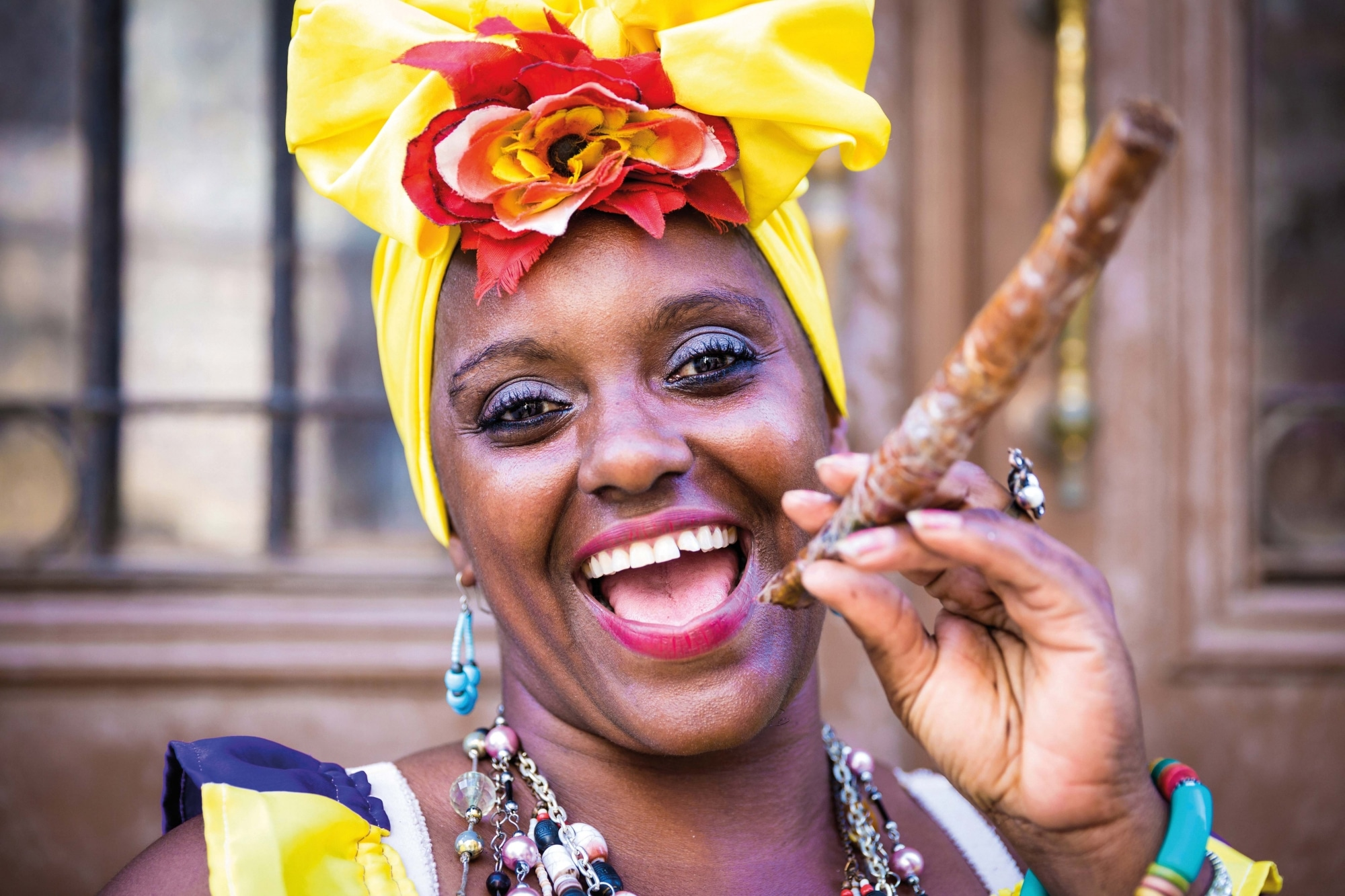 Kuba, Frau mit Zigarre