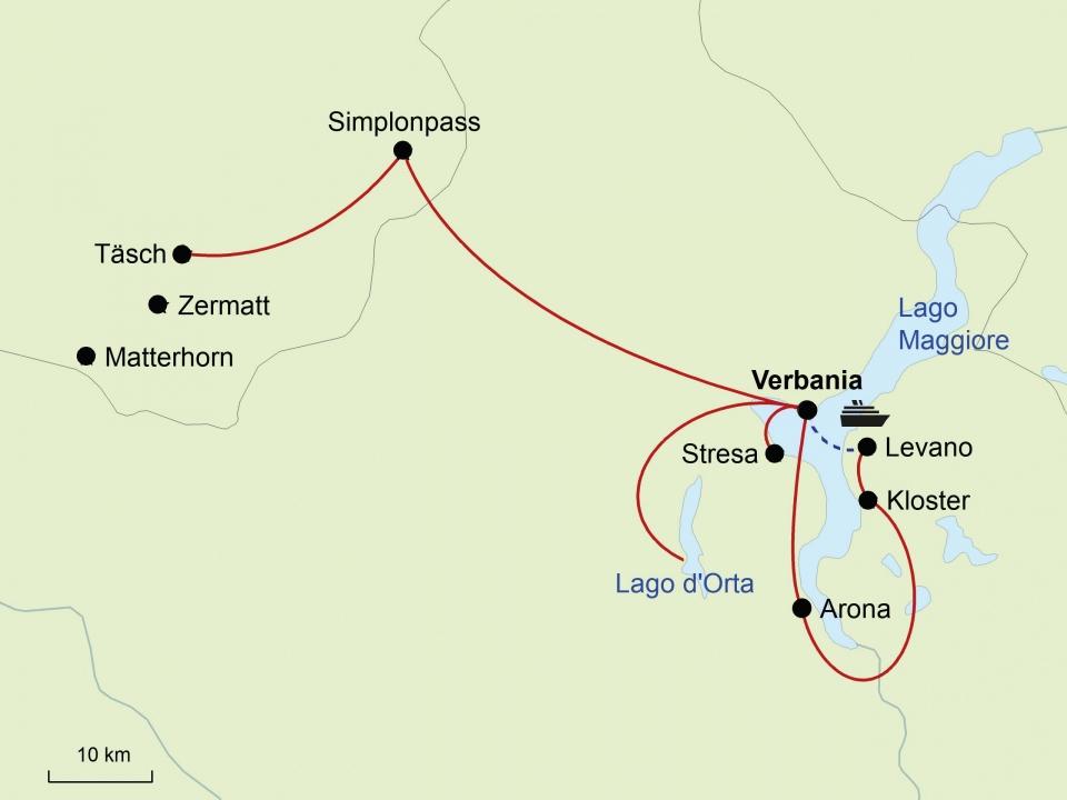 Lago Maggiore, Karte