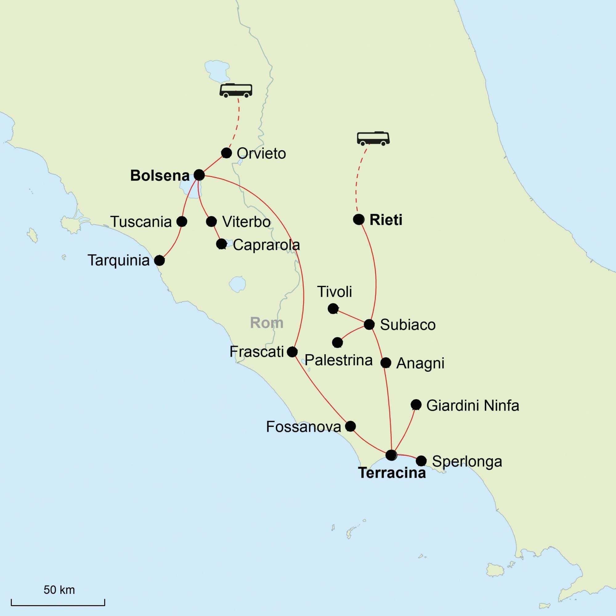 Latium, Karte