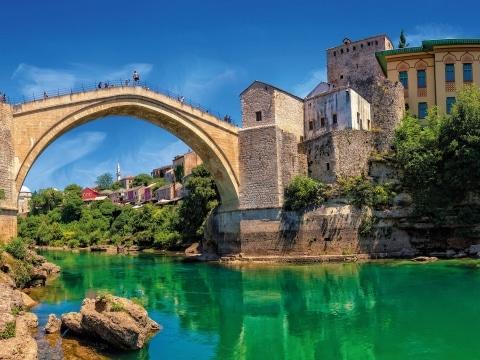 Balkan, Montenegro, Brücke von Mostar