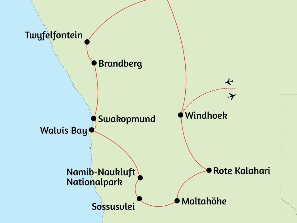 Namibia, Karte