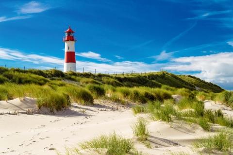 Nordseeküste, Leuchtturm auf Sylt
