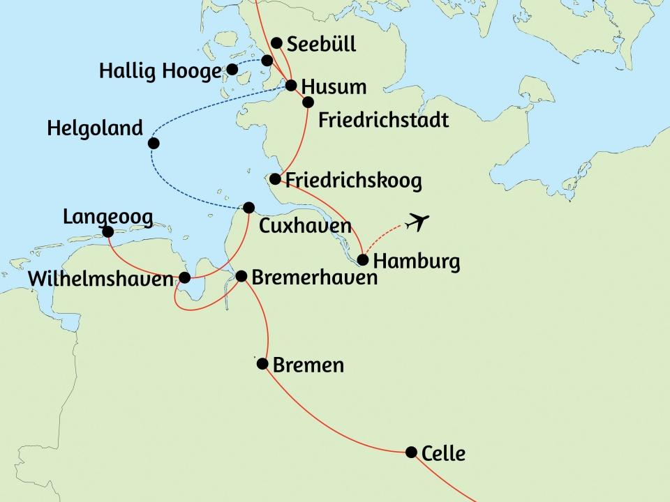 Nordseeküste, Karte