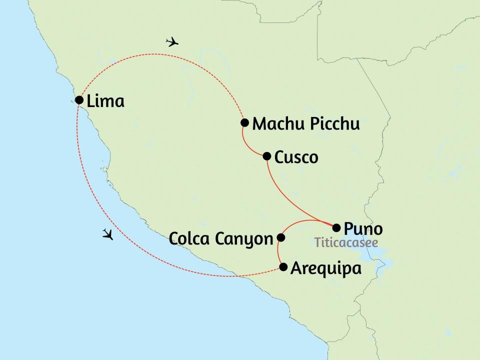 Peru, Karte