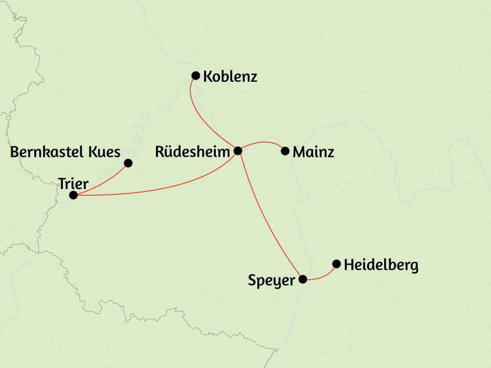 Rheinromantik, Karte