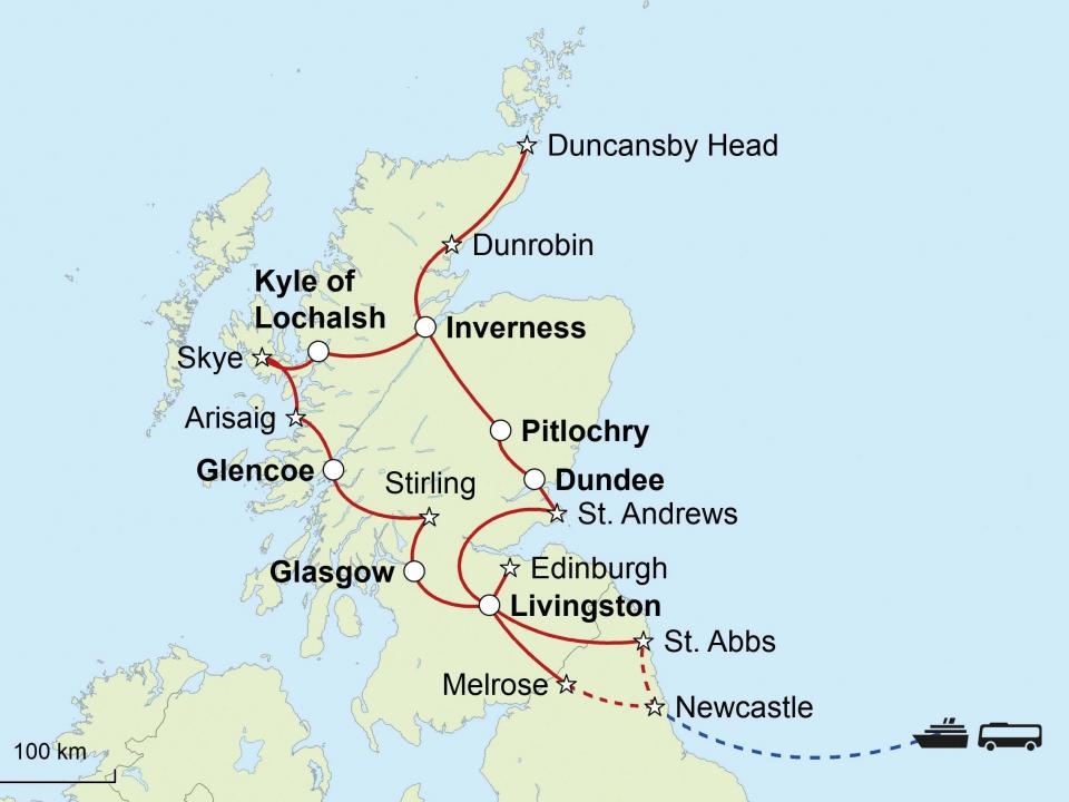 Schottland, Karte