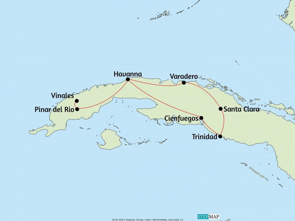 Kuba, Karte
