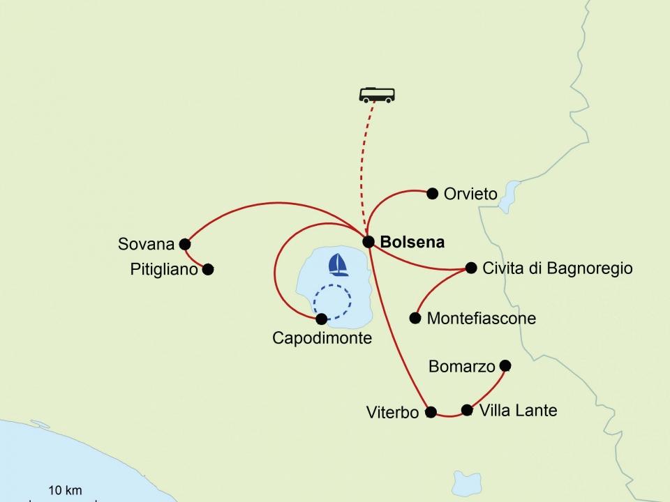 Tuscia, Karte