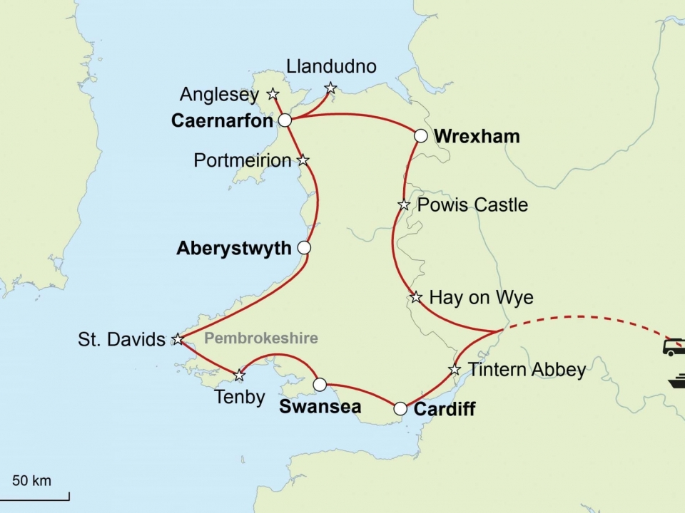 Wales, Karte