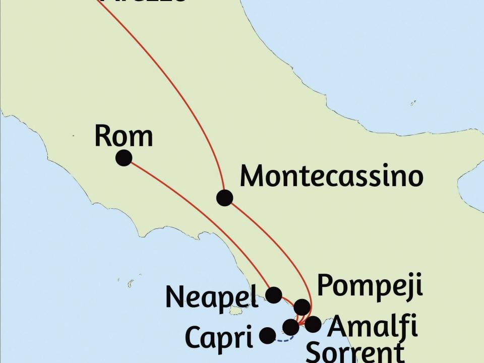 Rom & der Golf von Neapel © stepmap