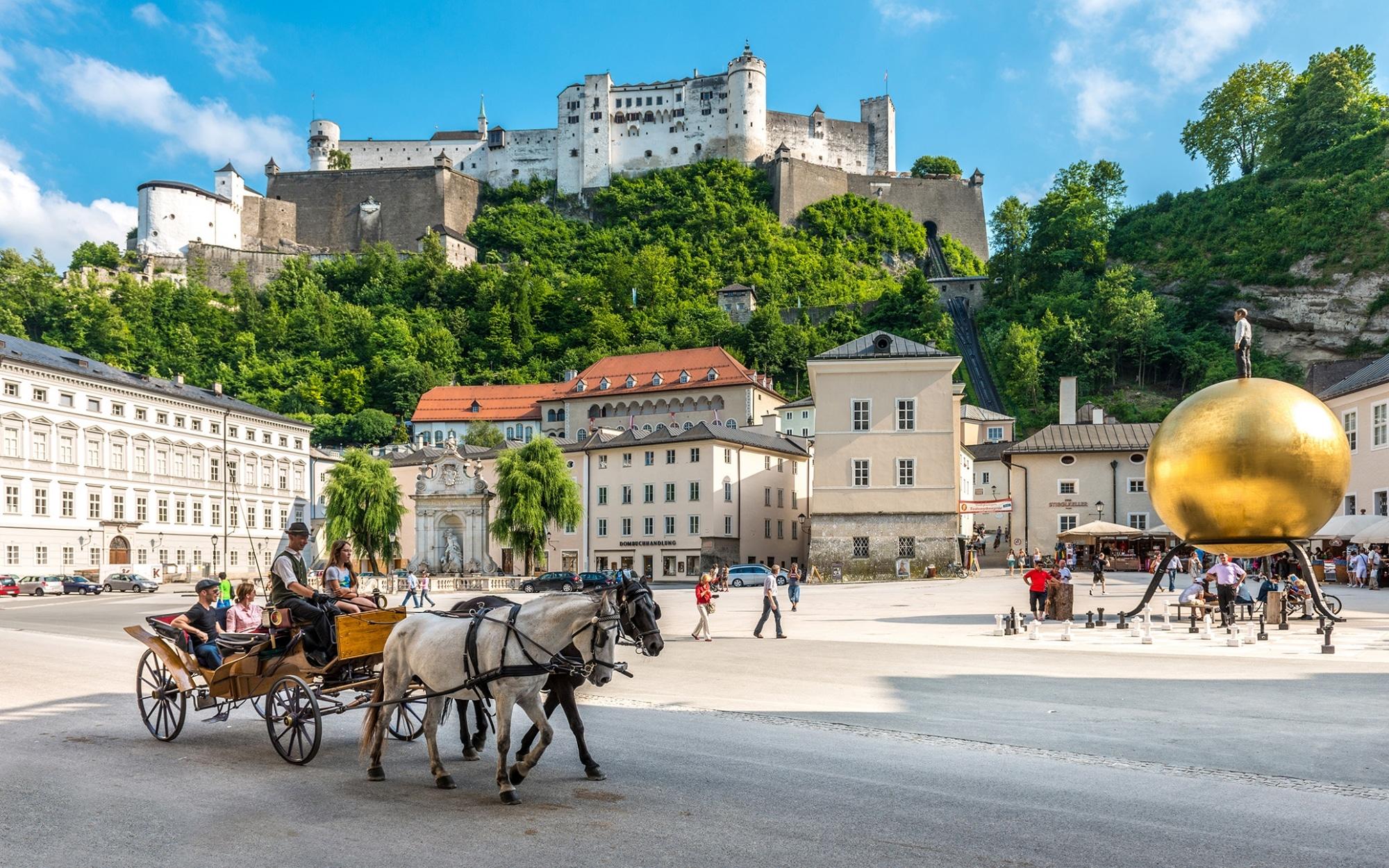 Blick auf die Festung Hohen Salzburg © Salzburg Tourismus_Breitegger