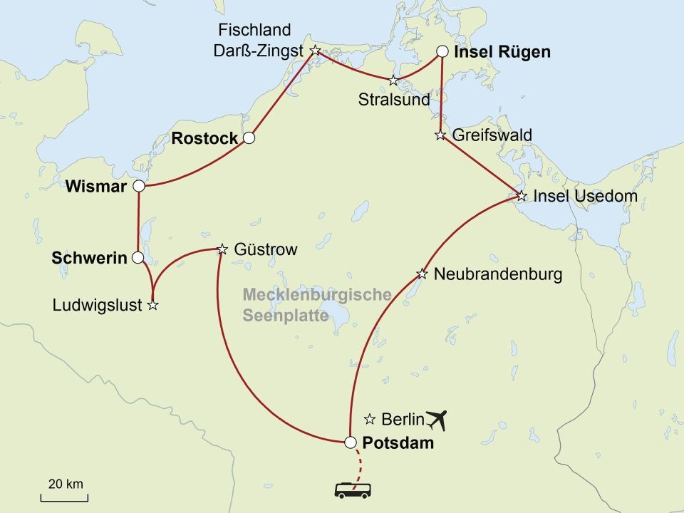 Hanseromantik an der Ostsee © stepmap